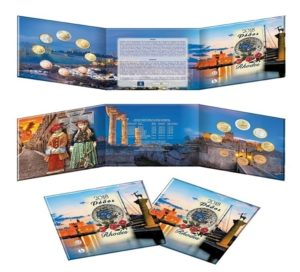 Brilliant Uncirculated coin set Greece 2018 (zoom)