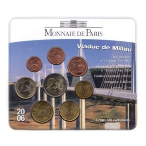(EUR07.CofBU&FDC.2006.M-S13.450) Mini-set BU France 2006 - Viaduc de Millau Recto