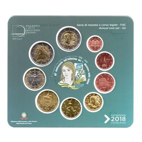 (EUR10.CofBU&FDC.2018.Cof-BU.000000002) Coffret BU Italie 2018 (Ministère de la Santé) Avers