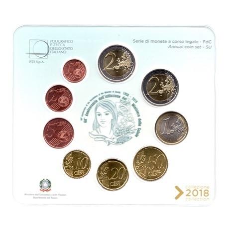 (EUR10.CofBU&FDC.2018.Cof-BU.000000002) Coffret BU Italie 2018 (Ministère de la Santé) Revers