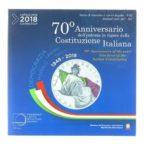 (EUR10.CofBU&FDC.2018.Cof-BU.1.000000002) Coffret BU Italie 2018 (Constitution italienne) Recto