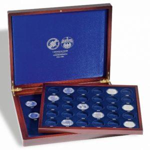 (MAT01.Cofméd&écr.Cof.300729) Numismatic case Leuchtturm - 5 Deutsche Mark (open) (zoom)