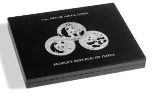 (MAT01.Cofméd&écr.Cof.344580) Numismatic case Leuchtturm - 10 Yuan Panda 1 oz (closed) (zoom)