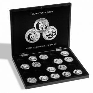 (MAT01.Cofméd&écr.Cof.344580) Numismatic case Leuchtturm - 10 Yuan Panda 1 oz (open) (zoom)