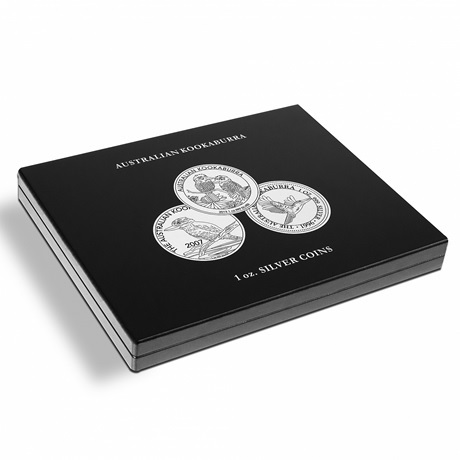 (MAT01.Cofméd&écr.Cof.346441) Coffret Leuchtturm - 1 Dollar Australie 1 once argent - Kookaburra (fermé)