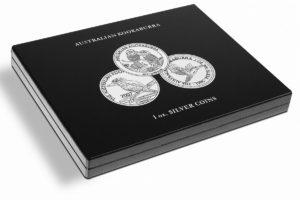 (MAT01.Cofméd&écr.Cof.346441) Numismatic case Leuchtturm - 1 Dollar Kookaburra 1 oz (closed) (zoom)