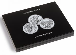 (MAT01.Cofméd&écr.Cof.347920) Numismatic case Leuchtturm - 1 Dollar Koala 1 oz (closed) (zoom)