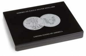 (MAT01.Cofméd&écr.Cof.348033) Numismatic case Leuchtturm - 1 Dollar American Eagle 1 oz (closed) (zoom)
