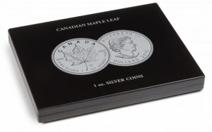 (MAT01.Cofméd&écr.Cof.348034) Numismatic case Leuchtturm - 5 Dollars Maple leaf 1 oz (closed) (zoom)
