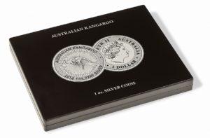 (MAT01.Cofméd&écr.Cof.355190) Numismatic case Leuchtturm - 1 Dollar Kangaroo 1 oz (closed) (zoom)