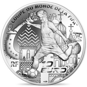 10 euro France 2018 Proof silver - FIFA World Cup, Russia 2018 Reverse (zoom)