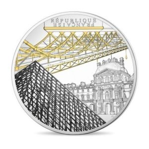 10 euro France 2018 Proof silver - The Louvre Museum & the Pont des Arts Obverse (zoom)