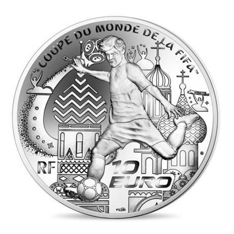 10 euro France 2018 argent BE - Coupe du monde de football Revers