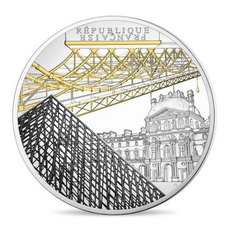10 euro France 2018 argent BE - Musée du Louvre et pont des Arts Avers