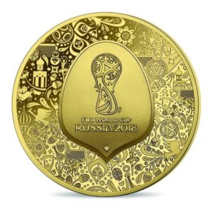 5 euro France 2018 Proof gold - FIFA World Cup, Russia 2018 Obverse (zoom)