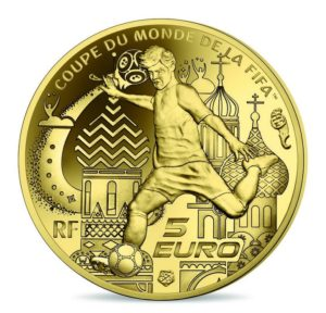 5 euro France 2018 Proof gold - FIFA World Cup, Russia 2018 Reverse (zoom)