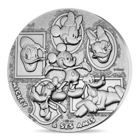 (FMED.Méd.MdP.n.d._2018_.Ag[]CuSn1) Médaille bronze argenté - Mickey et ses amis Avers