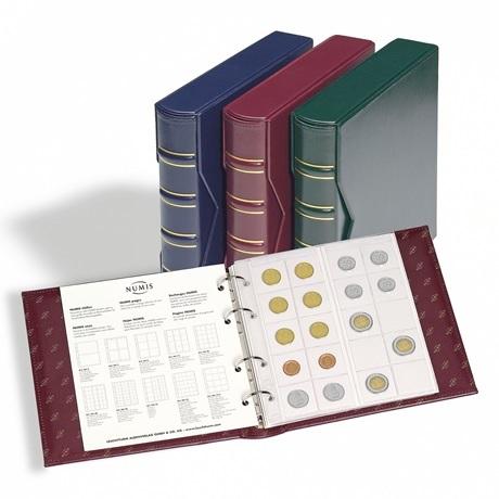 (MAT01.Alb&feu.Alb.327836) Classeur Leuchtturm NUMIS pour monnaies