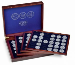 (MAT01.Cofméd&écr.Cof.349906) Numismatic case Leuchtturm - 10 euro Germany (open) (zoom)