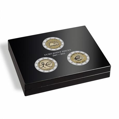 (MAT01.Cofméd&écr.Cof.355665) Coffret Leuchtturm - 2 euro commémoratives 2007, 2009 et 2012 (fermé)