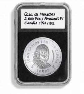 (MAT01.Rangindiv.Caps.342028) Paquet de 5 capsules Leuchtturm EVERSLAB pour monnaies 21,00 mm (zoom)