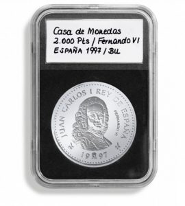 (MAT01.Rangindiv.Caps.342045) Paquet de 5 capsules Leuchtturm EVERSLAB pour monnaies 38,00 mm (zoom)