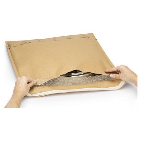 (MATRj.Parcels.Env.PMBK22.100) Pochettes kraft bulles brunes MEGABULLE 22,00 cm x 25,00 cm (x100) (fermeture)