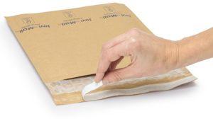 (MATRj.Parcels.Env.PMBK46.100) Brown bubble envelopes MEGABULLE (x100) (adhesive tape) (zoom)