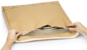 (MATRj.Parcels.Env.PMBK46.100) Brown bubble envelopes MEGABULLE (x100) (zoom)