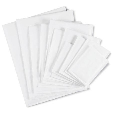 (MATRj.Parcels.Env.PMBL00C.100) Pochettes papier bulles blanches RAJABUL Eco 21,00 cm x 12,00 cm (x100)
