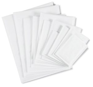 (MATRj.Parcels.Env.PMBL1RC.100) White bubble envelopes RAJABUL Eco 16.00 cm x 18.00 cm (x100) (zoom)