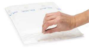 (MATRj.Parcels.Env.PMBP27.100) White bubble envelopes MEGABULLE (x100) (adhesive tape) (zoom)