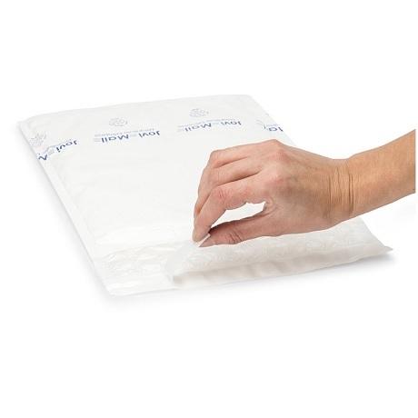 (MATRj.Parcels.Env.PMBP35.100) Pochettes plastique bulles blanches MEGABULLE (x100) (bande adhésive)