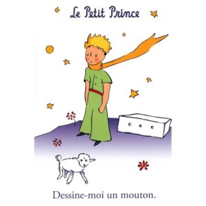 (POSTC07.10081315220000) Postcard - The Little Prince & the Sheep (zoom)