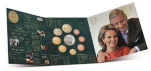 Brilliant Uncirculated coin set Belgium 2018 (open) (zoom)