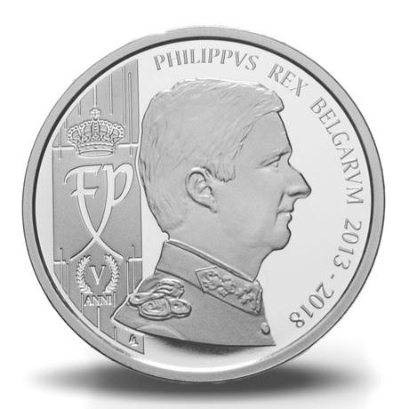 Coffret BU Belgique 2018 (avers de la médaille)