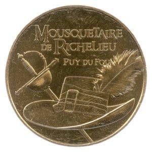 (FMED.Méd.tourist.2016.CuAlNi2.1.1.spl.000000001) Mousquetaire de Richelieu Obverse (zoom)