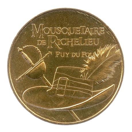 (FMED.Méd.tourist.2017.CuAlNi3.-2.spl.000000001) Jeton touristique - Mousquetaire de Richelieu Avers
