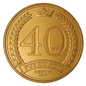 (FMED.Méd.tourist.2017.CuAlNi3.1.1.spl) Tourism token - Puy du Fou Obverse (zoom)