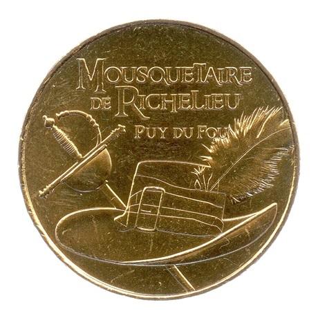 (FMED.Méd.tourist.2018.CuAlNi2.spl.000000001) Jeton touristique - Mousquetaire de Richelieu Avers