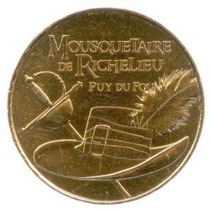 (FMED.Méd.tourist.2018.CuAlNi2.spl.000000001) Mousquetaire de Richelieu Obverse (zoom)