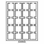 (MAT01.Cofméd&écr.Méd.310511) Médailler Leuchtturm 20 cases 50,00 mm x 50,00 mm