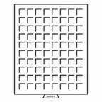 (MAT01.Cofméd&écr.Méd.314522) Médailler Leuchtturm 80 cases 24,00 mm x 24,00 mm