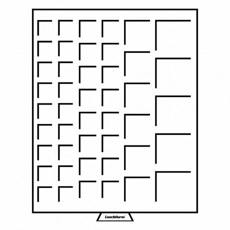 (MAT01.Cofméd&écr.Méd.316902) Médailler Leuchtturm 45 cases de dimensions variées