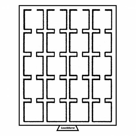 (MAT01.Cofméd&écr.Méd.320565) Médailler Leuchtturm 20 cases 50,00 mm x 50,00 mm