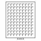 (MAT01.Cofméd&écr.Méd.333127) Médailler Leuchtturm 99 cases 19,00 mm x 19,00 mm