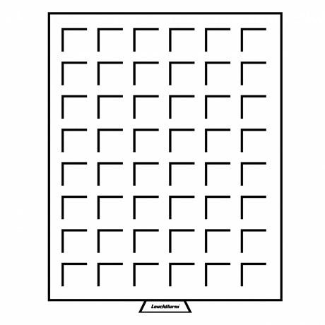 (MAT01.Cofméd&écr.Méd.337801) Médailler Leuchtturm 48 cases 28,00 mm x 28,00 mm