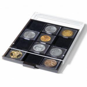 (MAT01.Cofméd&écr.Méd.343232) Coin box Lighthouse 12 spaces 67.00 mm x 67.00 mm (zoom)