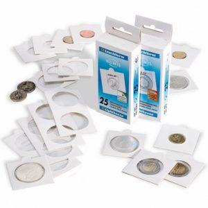 (MAT01.Rangindiv.Etuis.327425) 25 white cardboard coinholders Lighthouse 22.50 mm (zoom)