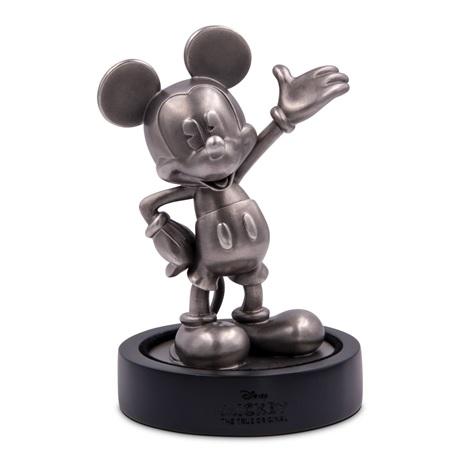 (OA160.ObjArt.NZ.n.d._2018_.Ag1) Fonte argent - Mickey Mouse (sur socle)